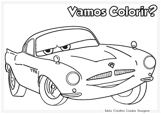 Desenho Carros da Disney Finn McMissile para colorir