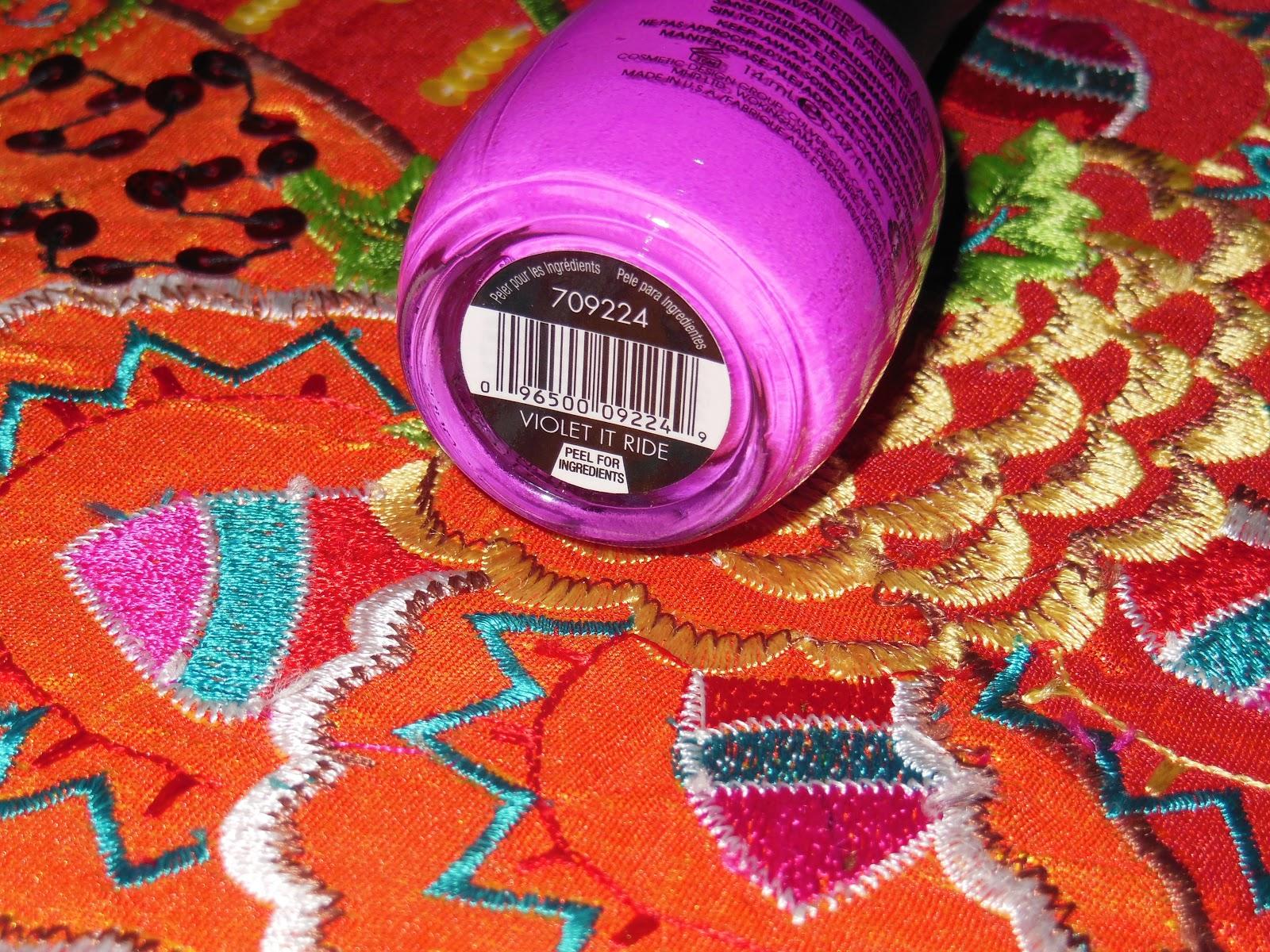 glambunctious!: REVIEW!   Nina Ultra Pro Nail Polish in Violet It Ride