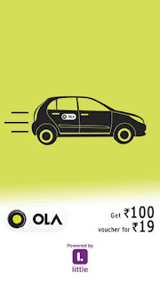 PayTM  :  Ola Rs.100 voucher @ 19 (One per phone number)