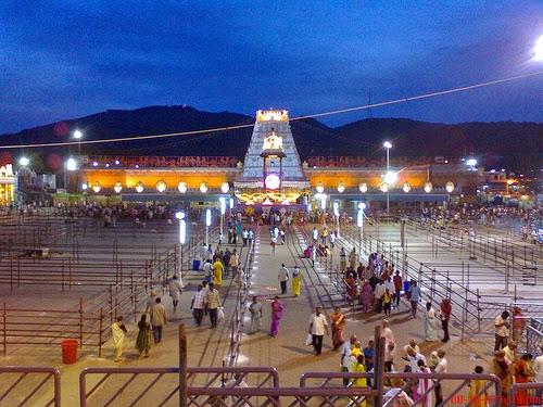 Tiruapti Balaji Temples pilgrims