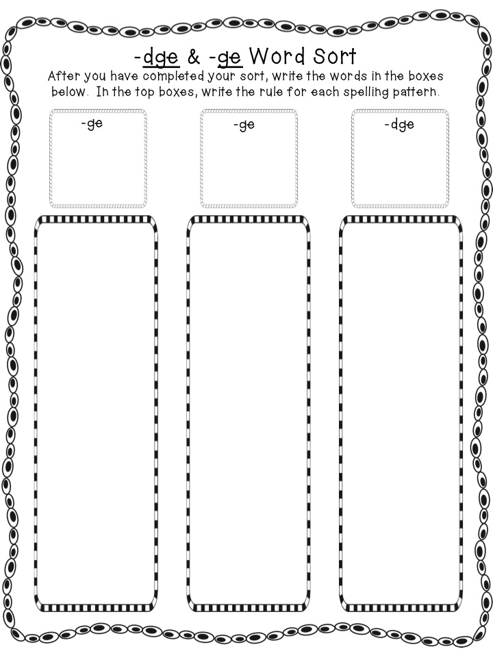 Word Sort Worksheet Worksheets for all | Download and Share ...