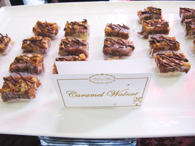 caramel walnut bars