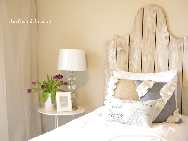 white guest bedroom
