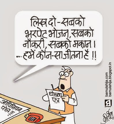 congress cartoon, cartoons on politics, indian political cartoon, election 2014 cartoons, election cartoon, opinion poll cartoon