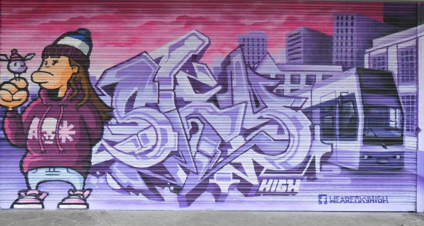 Femme Fiercetake over croydon street art