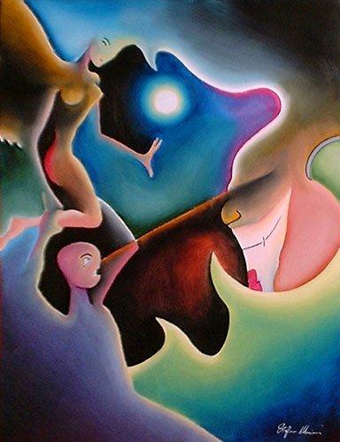 astratto dipinti pittura orme magiche quadro dipinto disegno pittura spirituale arte zen