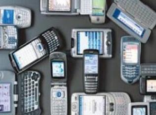 Ilustrasi ponsel-ponsel