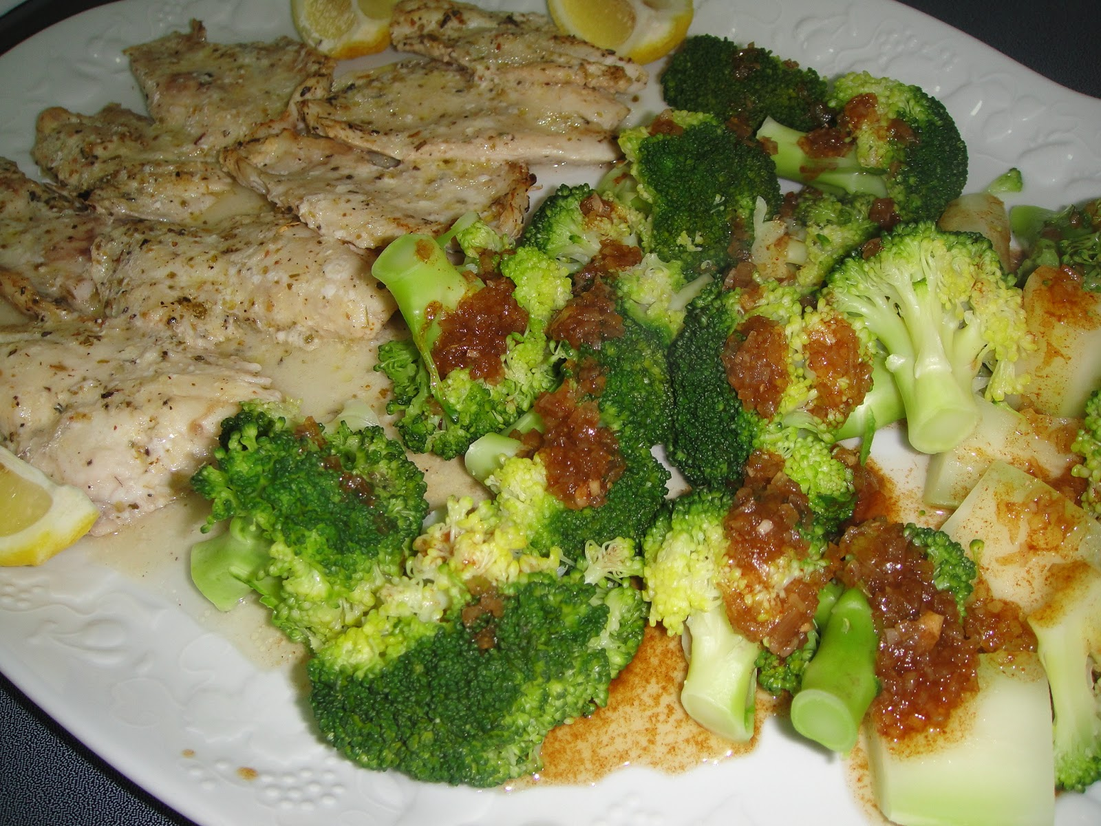 Maryam 39 s culinary wonders 262 baked rouget fish fillets for Fish and broccoli diet