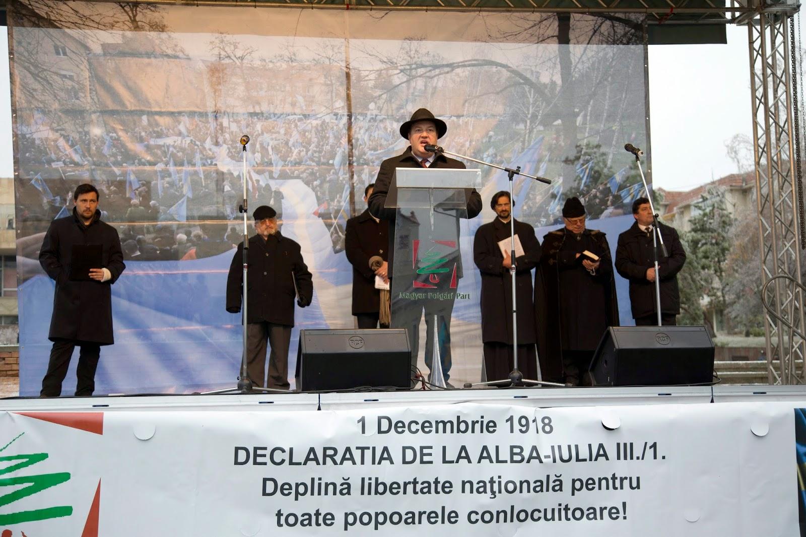 december 1-je, Gyulafehérvári Nyilatkozat, kisebbségi jogok, magyarság, MPP, román nemzeti ünnep, Sepsiszentgyörgy,