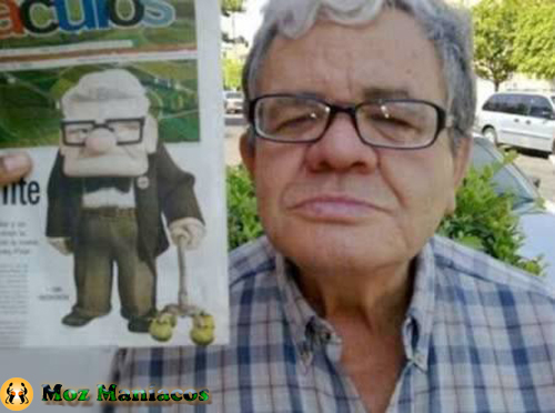 "Carl Fredricksen do filme ""Up"""