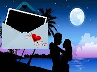 Moldura cartão de amor