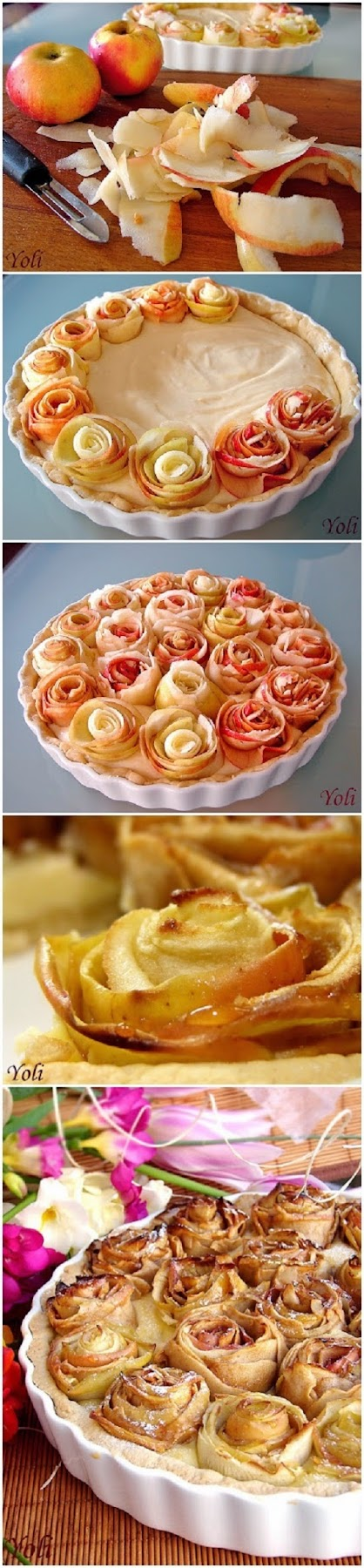 How To Make Apple pie with roses