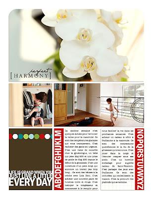 projet 52 semaines semaine 06 page de droite