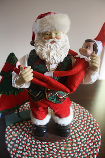 Elf on the shelf with Santa