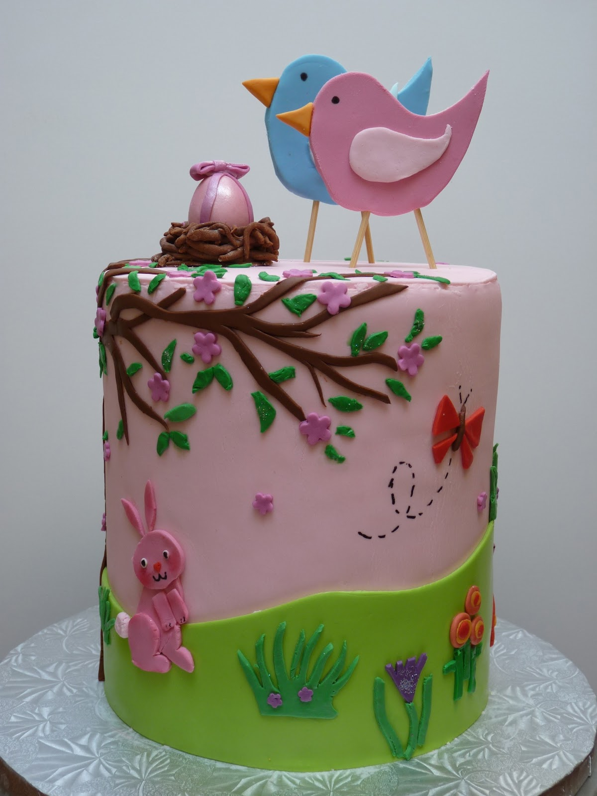 very pink Baby Shower Cake