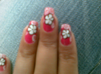 beautiful flower nail art design picture