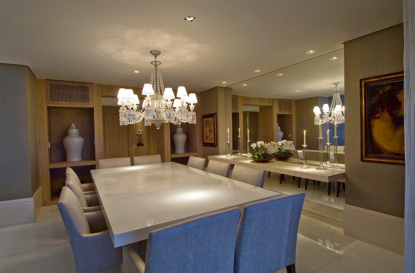 decoracao sala de jantar brancaSalas de jantar brancas e off whites
