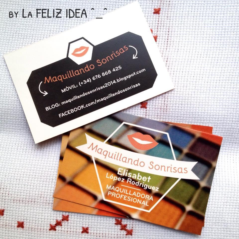 Business cards design makeuparist / Diseño tarjetas para maquilladora