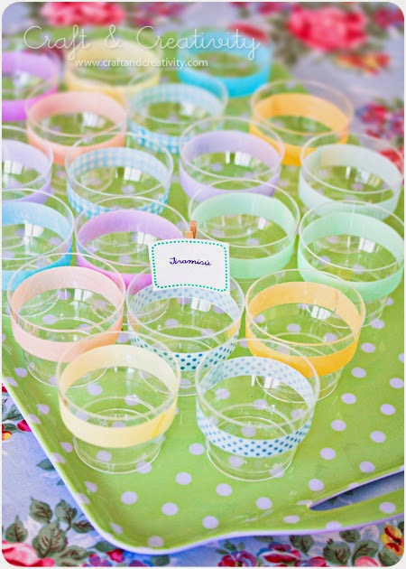 Organize Party Cups -- 11 Ways to Organize with Washi Tape :: OrganizingMadeFun.com