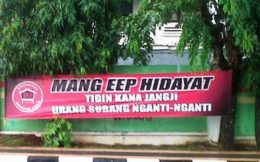 Beredar Spanduk Penyambutan Mantan Bupati Subang Eep Hidayat