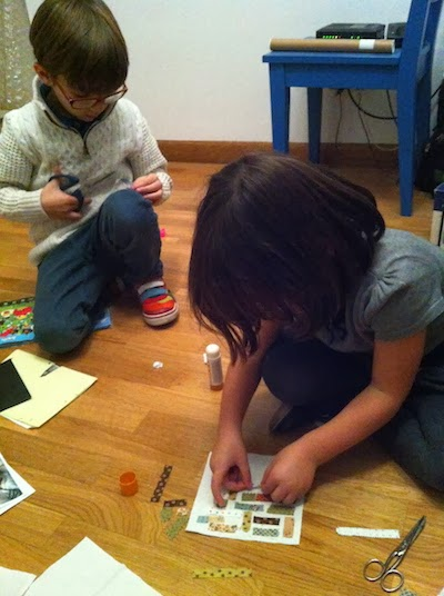 los niños y el patchwork