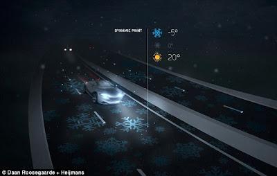 """COOL : """"Smart Highways""""Jalan Yang Boleh Menyala Dalam Gelap & Mengecas Kereta Elektrik"""