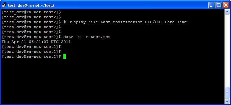 Unix date command