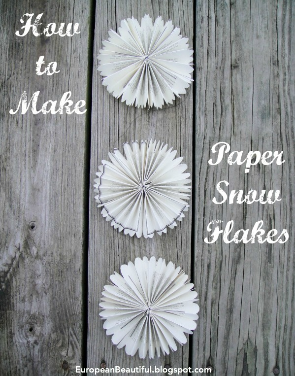 How to make a paper snowflake :: EuropeanBeautiful