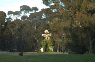 Sun God, by Niki de Saint Phaille, at Muir College near the Faculty Club