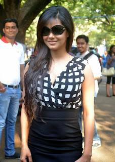 Actress Meera Chopra  Pictures in Short Dress at IIT Madras Saarang 2014 Annual Cultural Festival  0006
