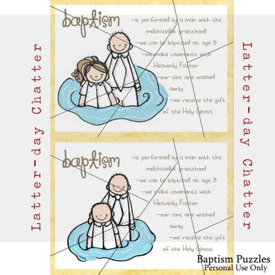 Latter-Day Chatter has put together these free Baptism puzzle ...