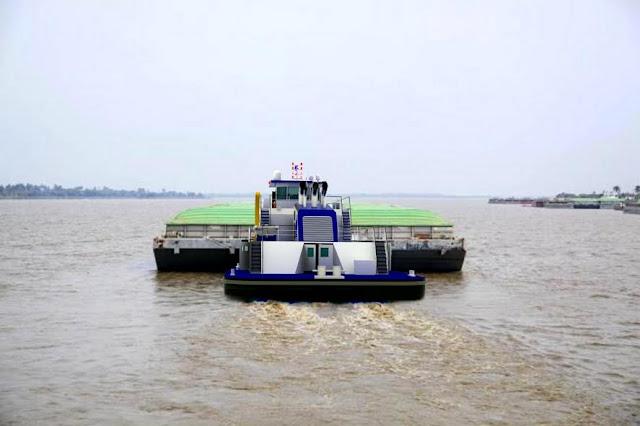 Así será el nuevo Empujador Fluvial construido por los astilleros colombianos de COTECMAR.