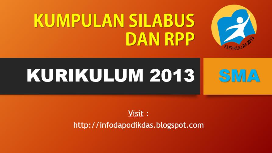 Download Silabus dan RPP SMA Kurikulum 2013 Kelas 10, 11, 12 Terbaru