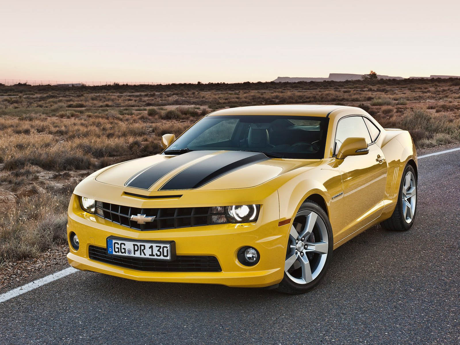 Top Cars Zone Camaro Ss 2012 Yellow Picture