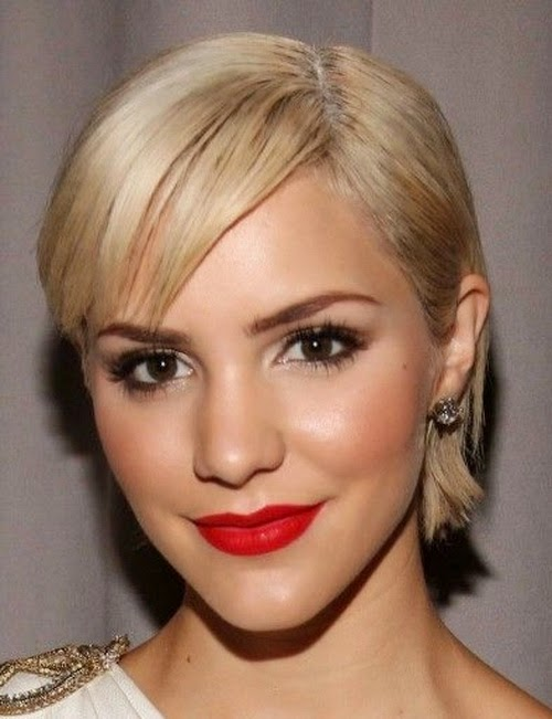cute short straight hairstyles 2014