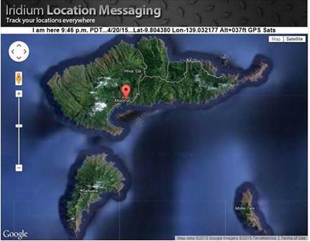 Hiva Oa Atuona Map Marquesas French Polynesia