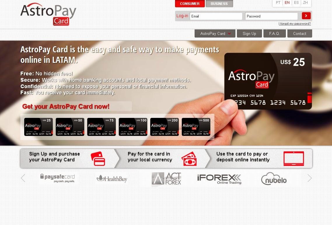 AstroPay Card Screen