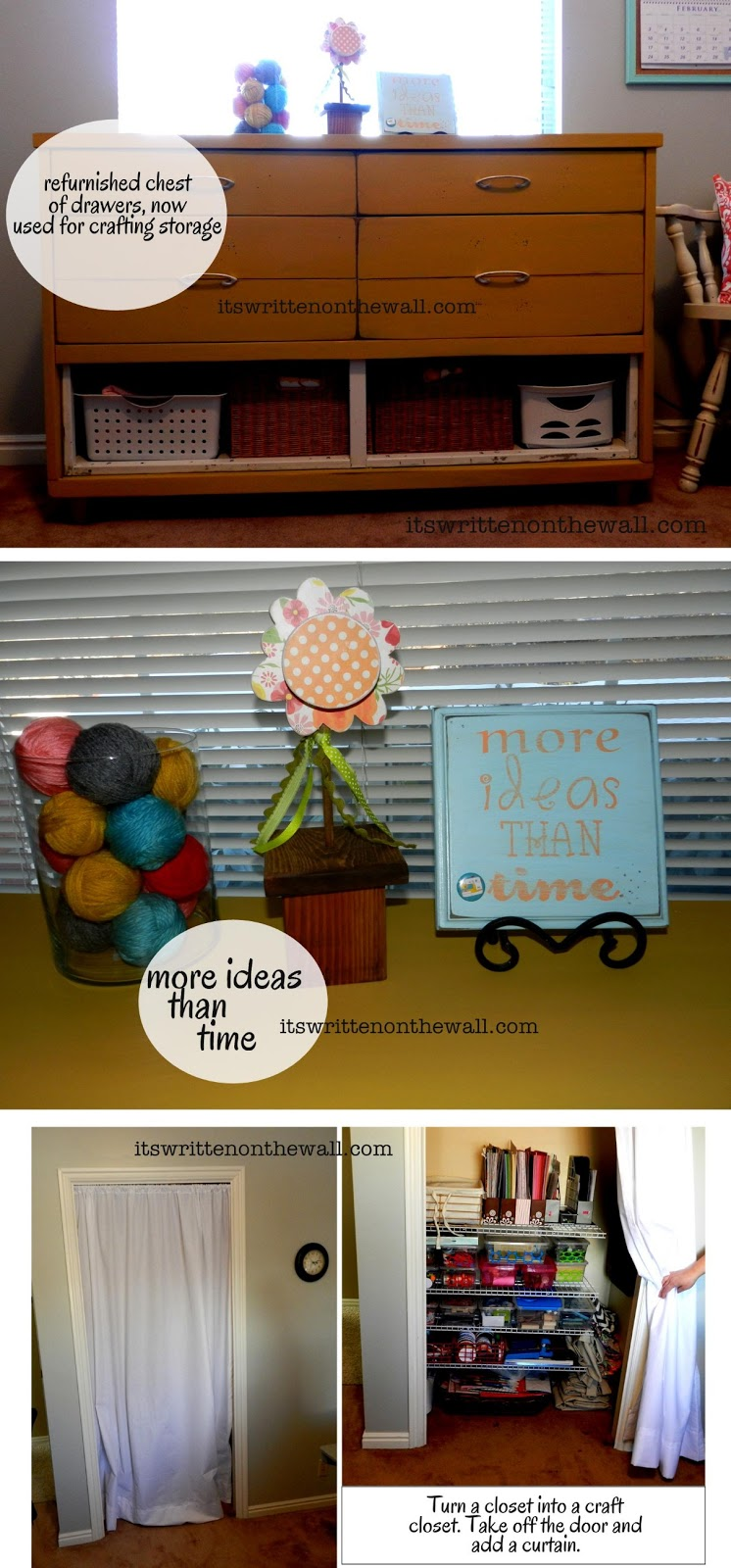 It's Written on the Wall: Craft Room Organizing Ideas-How to Use ...