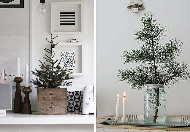 árboles de navidad sin adornos