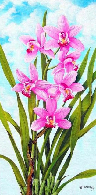 flores-rosadas-pintadas-al-oleo
