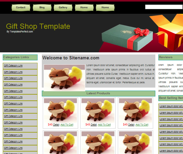 Ecommerce Site Name : Gifts Shop
