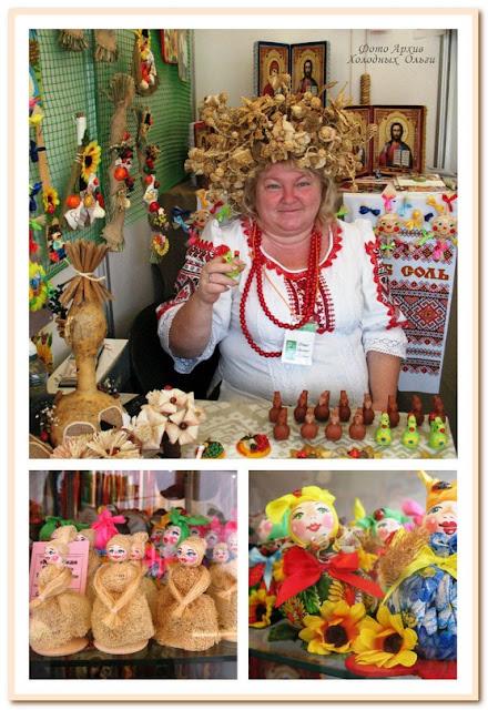 Наталья Баева  и мочальные куклы