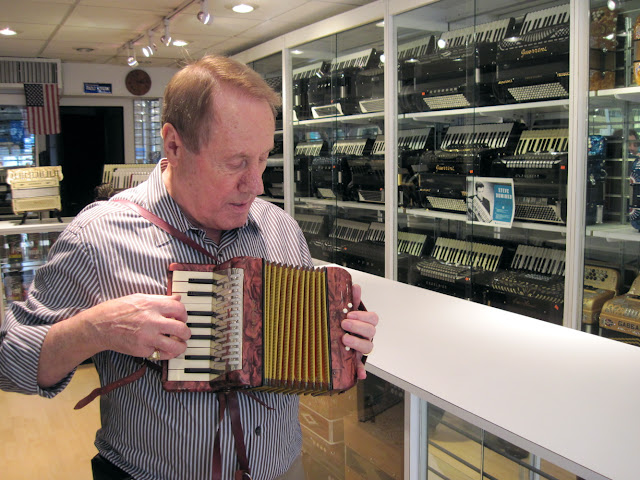 The curator of the Old New York Accordian Museum is happy to start a jam session for you