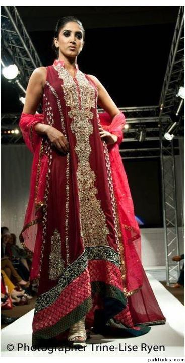 Maroon and gold modern indian wedding dress or gown
