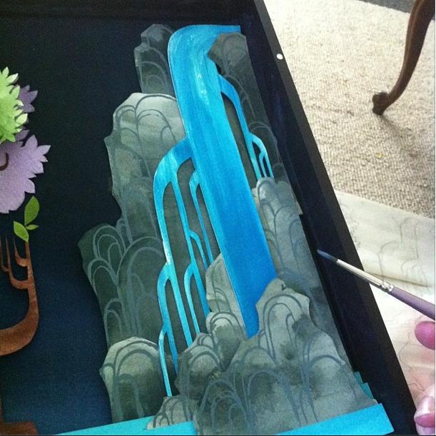mermaid lagoon watercolor illustration art