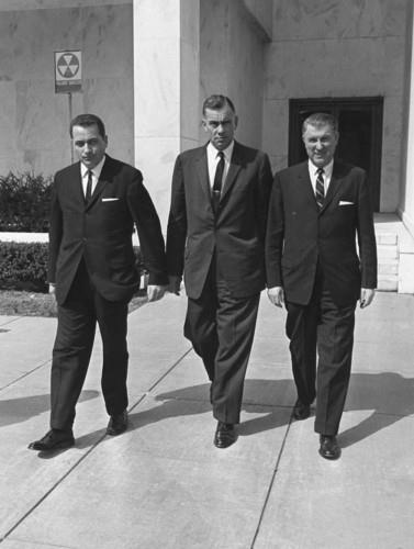 SAIC Clint Hill, LBJ (with Roy Kellerman & Bill Greer)