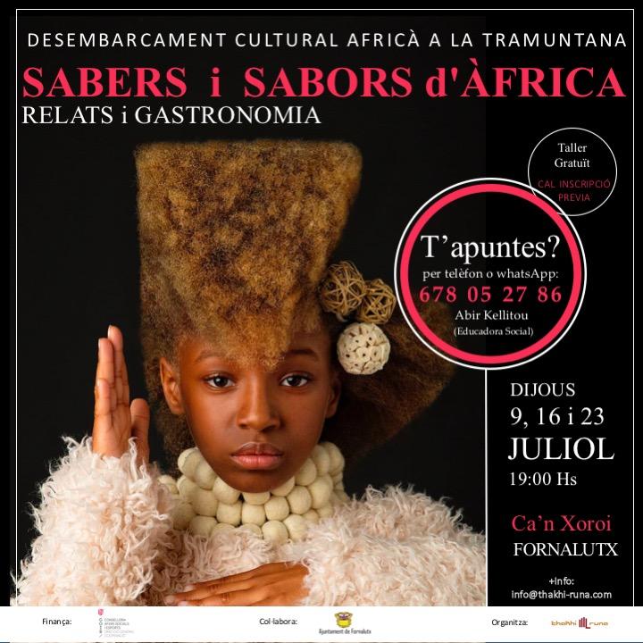TALLER SABERES y SABORES de ÁFRICA, en FORNALUTX