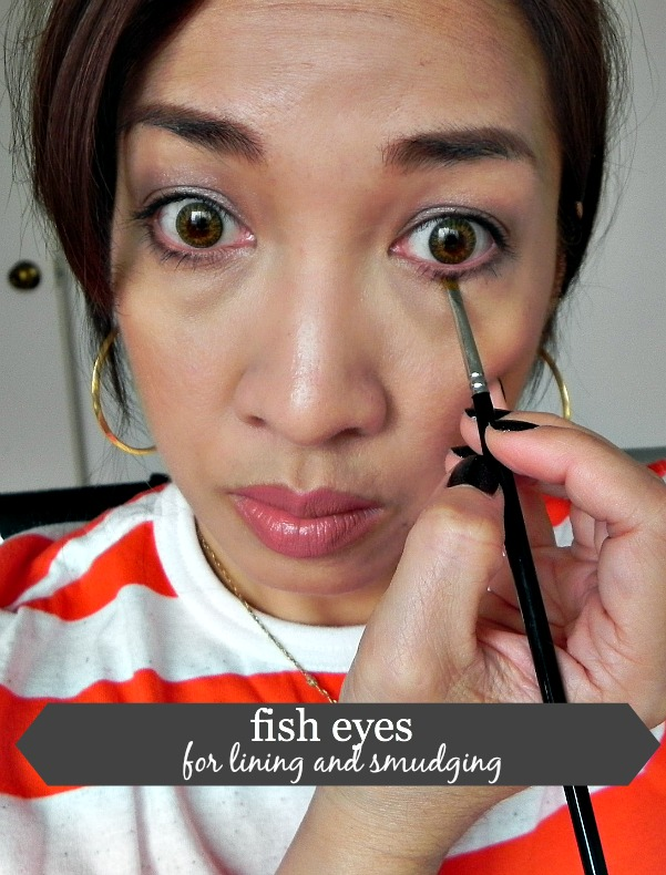how to apply eyeliner, how to tight-line eyes
