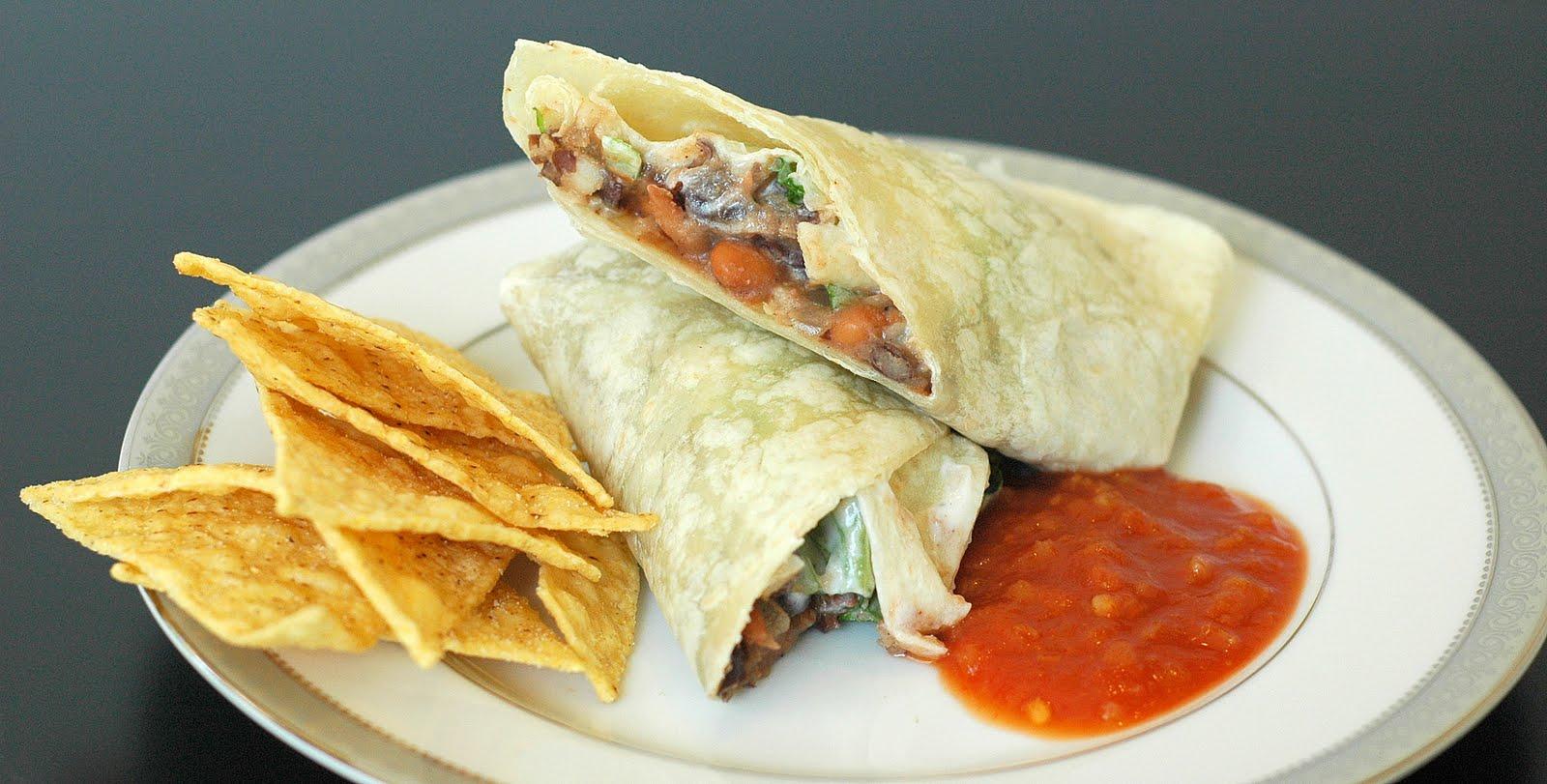 Good Thymes and Good Food: Easy Bean Burritos