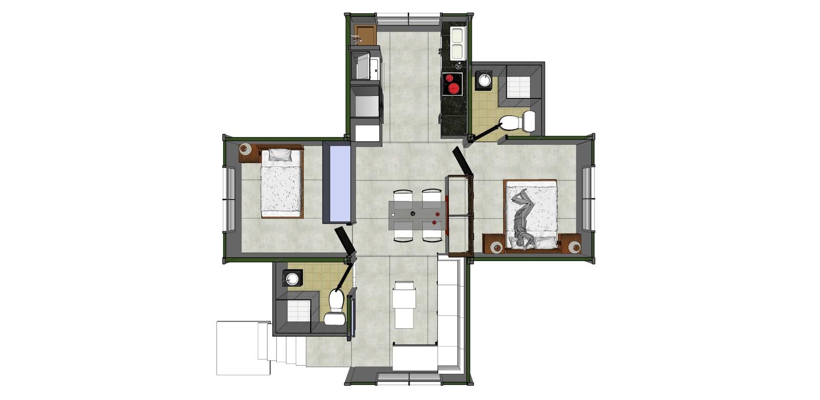 Hay que ser irresponsable metal casa vivienda ecol gica for Diseno de casa de 180 metros cuadrados